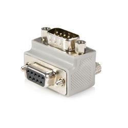 Rätvinklig DB9-till-DB9 seriell kabeladapter Typ 1 - M/F