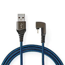 Nedis USB 2.0-kabel, A hane till 180° Lightning, 2 meter
