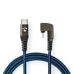 Nedis USB 2.0-kabel, C hane till 180° Lightning, 2 meter