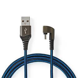 Nedis USB 2.0-kabel, A hane till 180° C hane, 2 meter