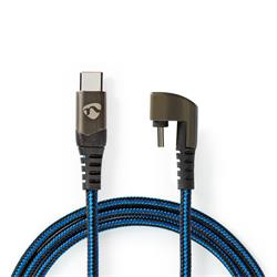 Nedis USB 2.0-kabel, C hane till 180° C hane, 2 meter