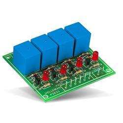 Byggsats reläkort med 4 reläer - Velleman K2633