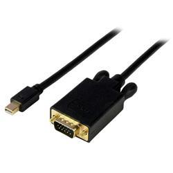 Konverteraradapterkabel Mini DisplayPort till VGA på 1,8 m - mDP till VGA 1920x1200 - Svart