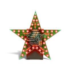 Byggsats blinkande röd julstjärna - Velleman MK169R
