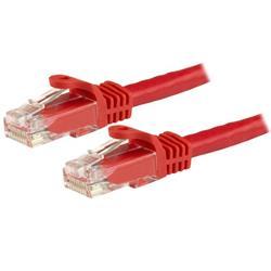 Cat6 Ethernet patchkabel med hakfria RJ45-kontakter - 15 m, röd
