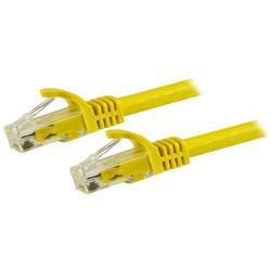 Cat6 Ethernet patchkabel med hakfria RJ45-kontakter - 15 m, gul