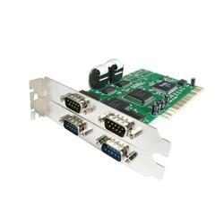 PCI RS232 seriell kortadapter med 4 portar och 16550 UART