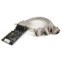 PCI RS232 seriell kortadapter med 4 portar och strömutgång