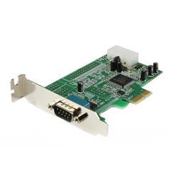Native RS232 PCI express seriellt kort i lågprofil med 16550 UART och 1 portar