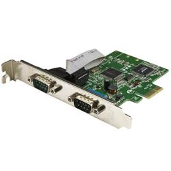 PCI Express seriellt kort med 2 portar och 16C1050 UART - RS232