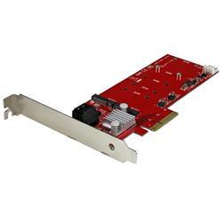 2x M.2 NGFF SSD RAID-kontrollerkort plus 2x SATA III-portar - PCIe