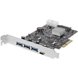4-ports USB 3.1 PCIe-kort - 3x USB-A och 1x USB-C - 2x dedikerade kanaler