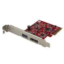 2-Port USB 3.1 (10 Gbps) och eSATA PCIe-kort - 1x USB-A och 1x eSATA