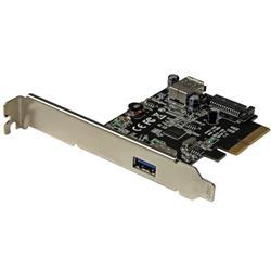 USB 3.1-kort (10Gbps) med 2 portar - USB-A, 1x extern, 1x intern - PCIe