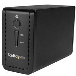 USB 3.1 dubbel 3,5 tums SATA (6Gbps) HDD-kabinett med RAID - USB-C och USB-A