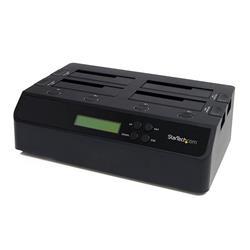 USB 3.0 eSATA till fristående dockningsstation med 4 fack för 1:3 SATA hårddisk-duplikator
