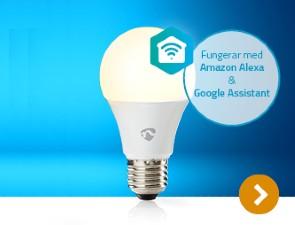 <b>Nedis SmartLife</b><br>Spara energi -<br>välj SmartLife.<br>Upptäck sortimentet hos oss nu