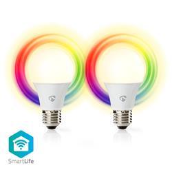 Nedis SmartLife LED-lampa RGB, WiFi, E27, 2 x 6 Watt