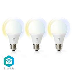 Nedis SmartLife LED-lampa, WiFi-styrd, E27, 3 x 9 Watt