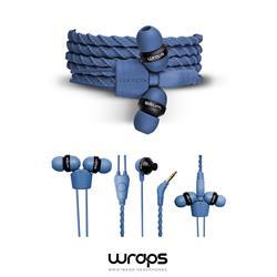 WRAPS Talk In-Ear headphone med mikrofon, denim