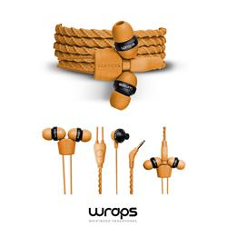 WRAPS Talk In-Ear headphone med mikrofon, guld