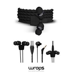 WRAPS Talk In-Ear headphone med mikrofon, svart