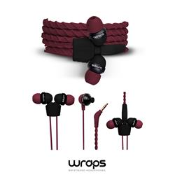 WRAPS Classic In-Ear Headphones, vinröda
