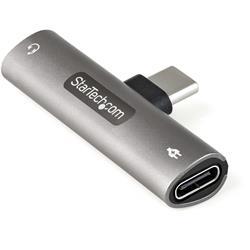 USB-C hörlurs och laddningsadapter, C till 3.5 mm och C
