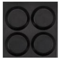 Gummifot Ø 12.6 x 3.5 mm, svart självhäftande, 4-pack