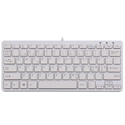 R-Go Compact, ergonomiskt supertunt tangentbord, vitt
