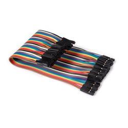 Kopplingstråd, hylsa till hylsa, flatkabel med 40 delar